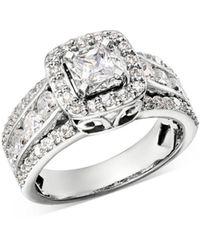 Bloomingdale's Diamond Princess - Cut Engagement Ring In 14k White Gold
