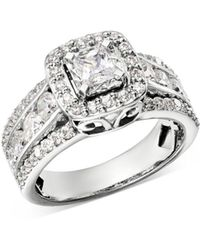 Bloomingdale's Diamond Square Halo Engagement Ring In 14k White Gold