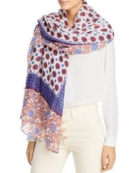 Fraas Foulard Patchwork Scarf - White