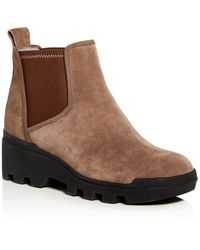 Eileen Fisher Women's Splash Waterproof Wedge Booties - Brown