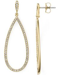 Nadri Pavé Drop Earrings - Metallic