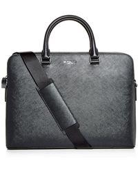 4393cf8d1222 Michael Kors - Harrison Crossgrain Leather Briefcase - Lyst