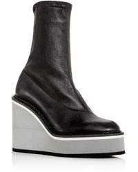 Clergerie Women's Bliss Platform Wedge Boots - Black