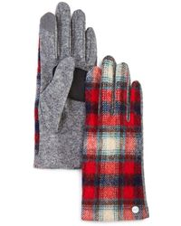 Echo Heritage Plaid Tech Gloves - Red