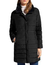 Basler Long Puffer Coat - Black