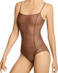 Item M6 All Mesh Shape Bodysuit - Brown