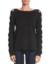 Bailey 44 - Knot Detail Fleece Sweatshirt - Lyst