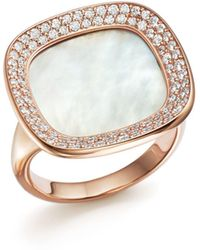 Roberto Coin - 18k Rose Gold Carnaby Street Diamond And Mother - Of - Pearl Ring - Lyst