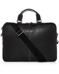 Boconi Tyler Leather Sleeve Briefcase - Black