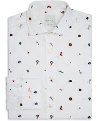Paul Smith - 1970s Print Slim Fit Dress Shirt - Lyst