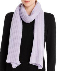 Aqua Cashmere Rib - Knit Cashmere Scarf - Multicolor