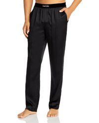 Tom Ford Silk Blend Pyjama Trousers - Black