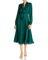 Fame & Partners Amalia Satin Midi Dress - Green
