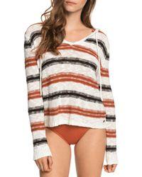 Roxy Shades Of Cool Striped Sweatshirt - Multicolor
