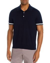 Bloomingdale's Cotton Tipped Classic Fit Polo Shirt - Blue