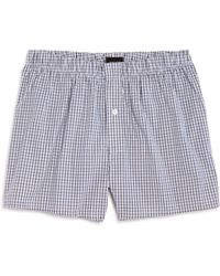 Hanro - Fancy Check Woven Boxers - Lyst