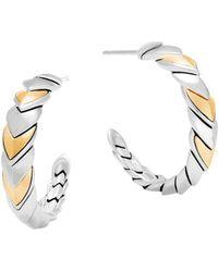 John Hardy - 18k Gold And Sterling Silver Legends Naga Hoop Earrings - Lyst