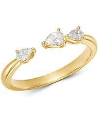Bloomingdale's - Diamond Pear Shaped Open Ring In 14k Yellow Gold - Lyst