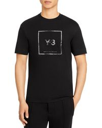 Y-3 Y - 3 Square Graphic Tee - Black