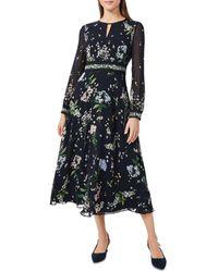 Hobbs - Skye Floral Print Midi Dress - Lyst