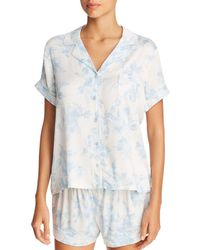 Lyst - Marigot Collection Lorient Block Short Pajama Set in Blue e11f150b1
