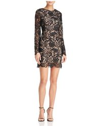 Dress the Population - Jessica Long-sleeve Lace Dress - Lyst