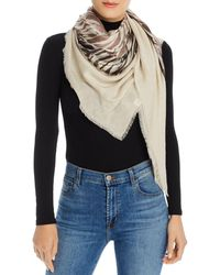 Echo Wavy Lines Patch Scarf - Multicolour