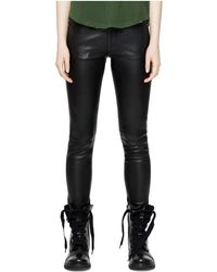 Zadig & Voltaire - Phlame Leather Trousers - Lyst