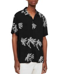 707c9f7c AllSaints - Offshore Short Sleeve Slim Fit Shirt - Lyst