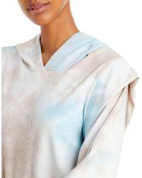 Aqua Tie - Dye French Terry Hoodie - Blue