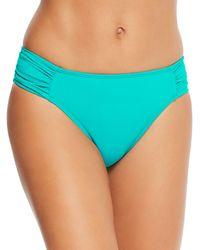 Lauren by Ralph Lauren - Ralph Beach Shirred Tab Hipster Bikini Bottom - Lyst