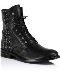 Frēda Salvador Women's Nia Corset Boots - Black