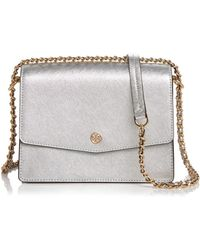 7d6b2b4601e Tory Burch - Robinson Convertible Leather Shoulder Bag - Lyst