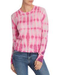 Aqua Cashmere Tie - Dye Cashmere Sweater - Pink