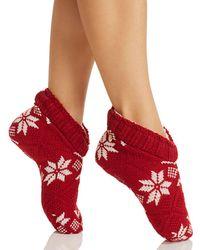 Ralph Lauren - Lauren Snowflake Slipper Socks - Lyst