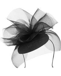 Karen Millen Ruffled Fascinator Hat - Black