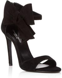 Charles David - Precious Suede Bow High Heel Sandals - Lyst