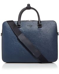Michael Kors Henry Leather Briefcase - Blue