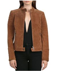 BAGATELLE.NYC | Quilted Suede Moto Jacket | Lyst
