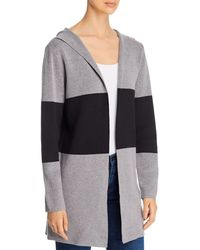 Sioni Color - Block Hooded Cardigan Sweater - Gray
