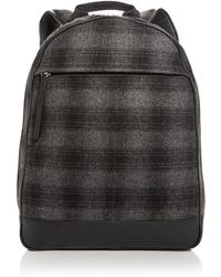 Bloomingdale's Plaid Wool Backpack - Gray