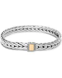 John Hardy - Sterling Silver & 18k Bonded Yellow Gold Modern Chain Woven Bracelet - Lyst