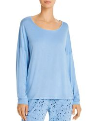 Jane & Bleecker New York Long - Sleeve Pajama Top - Blue