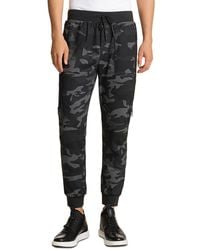 Karl Lagerfeld Camouflage Track Trousers - Black