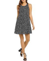 Karen Kane Chloe Dot Print A Line Dress - Black