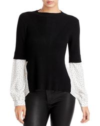 Fate Woven Sleeve Sweater (41% Off) - Comparable Value $68 - Black