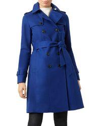Hobbs Saskia Water Resistant Trench Coat - Blue