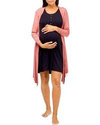 Nom Maternity Second Skin Maternity Robe - Multicolour