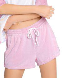 Pj Salvage Crocheted Sunset Shorts - Pink