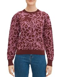 Kate Spade Scribble Flora Sweater - Red